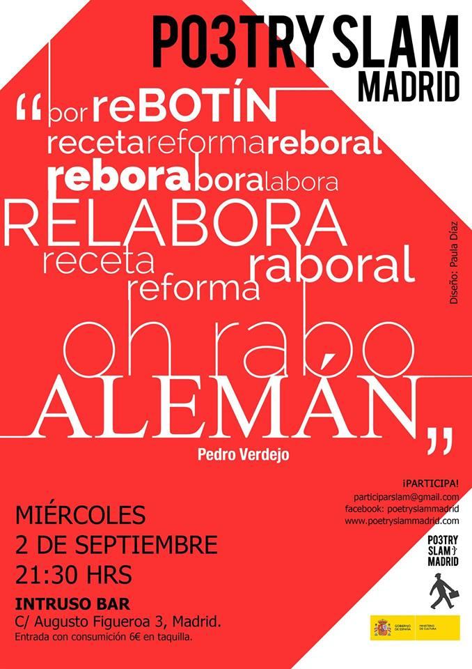Poetry Slam Madrid: crónica septiembre 2015