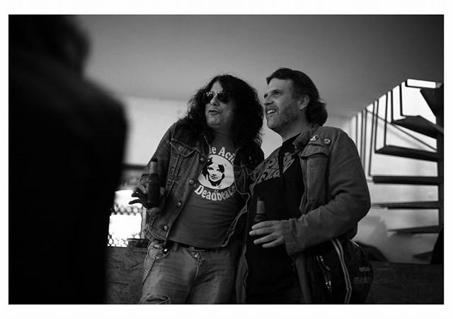 Joaquín Ladrón, de Ladroncomix, y Xavier Martínez, de Rock On Magazine.