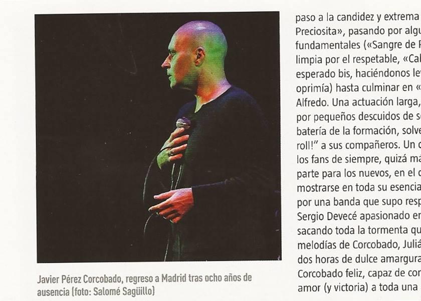 Crónica concierto Corcobado en el Teatro Lara
